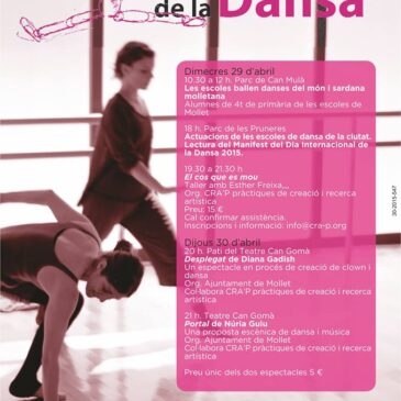 Activitats pel Dia Internacional de la Dansa a Mollet