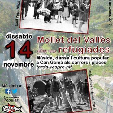 La Tramolla participa a les jornades de suport als refugiats d'aquest cap de setmana a Mollet